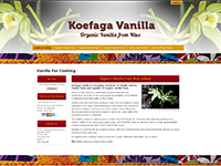 Koefaga Vanilla, for vanilla paste, extract and organic vanilla pods