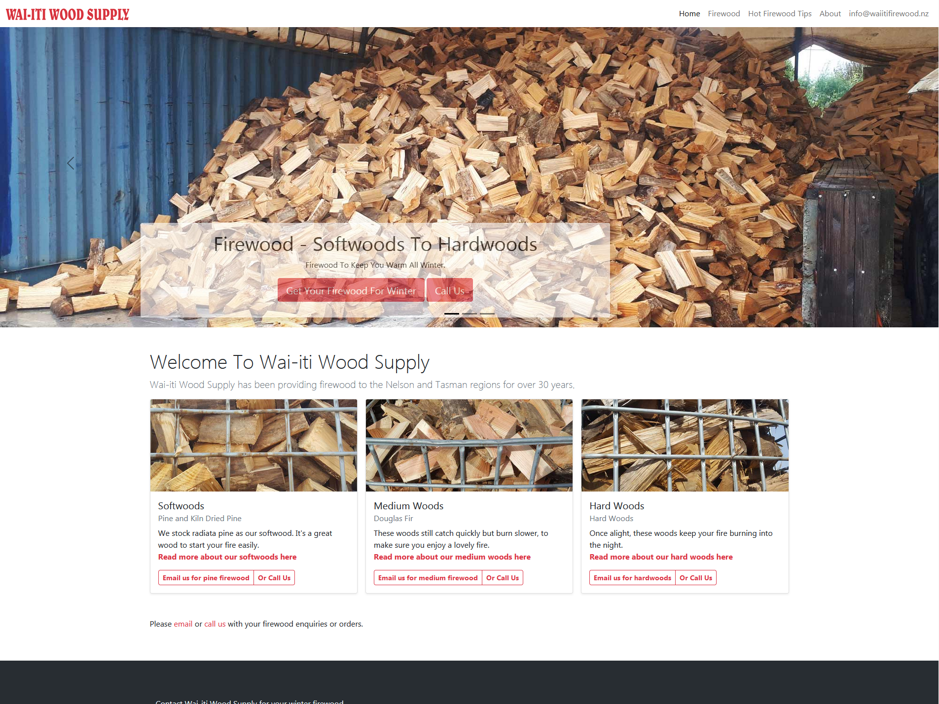 Wai-iti Wood Supply, firewood for Motueka and Nelson